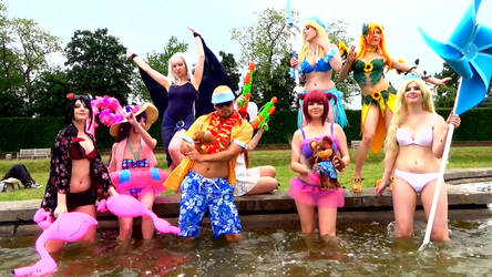 Animated Gif: Cosplay Summer Pool Party XD by Edenfilms