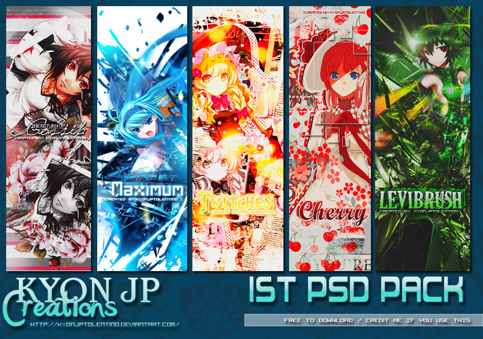1st PSD PACKs by Kyon Jp Tolentino by kyonjptolentino