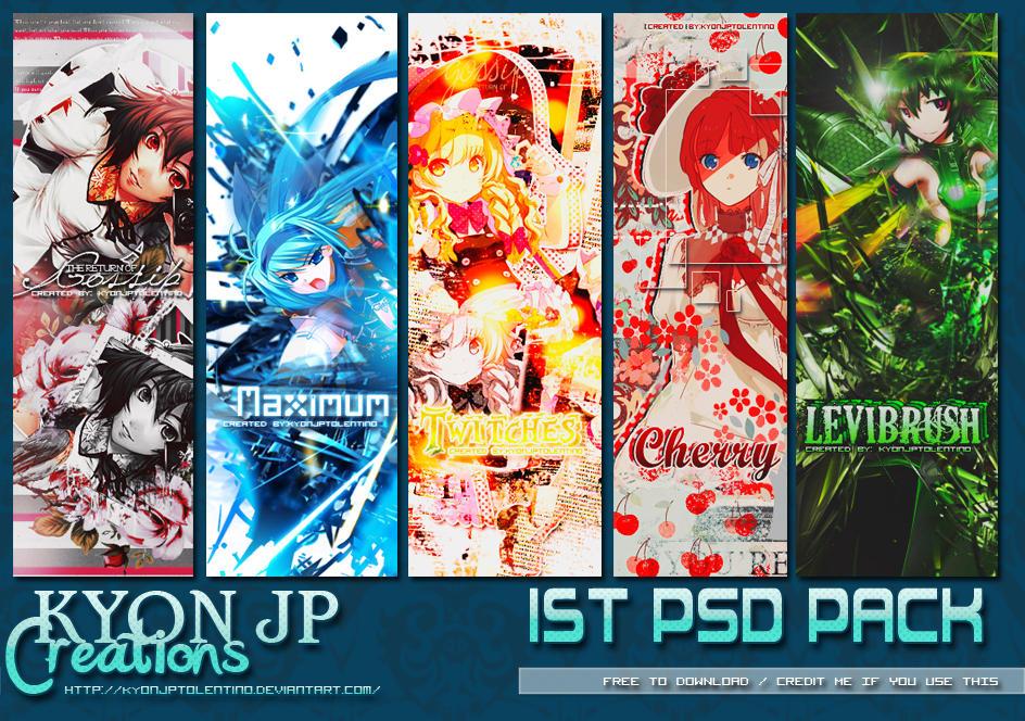 1st PSD PACKs by Kyon Jp Tolentino by kyonjptolentino