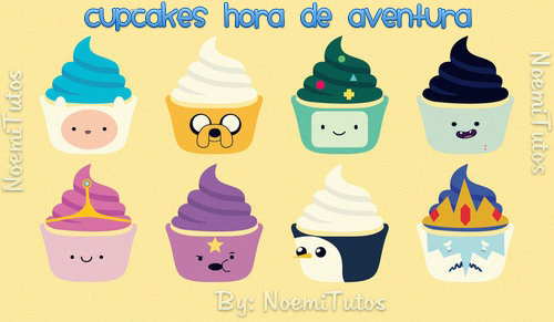 Cupcakes Hora de aventura by NoemiTutos