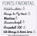 Mis fonts favoritas