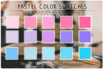 Pastel Color Swatches