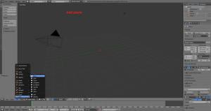 Add visible background in blender