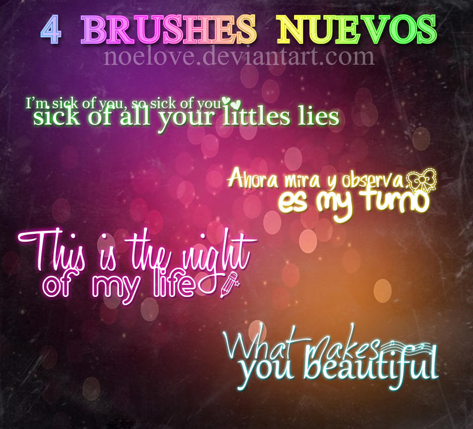 4 brushes texto nuevos by Noelove