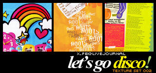 Textures 002 - Le'ts Go Disco by x-fei