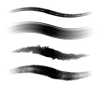 4 Photoshop brushes by TwinklePowderySnow