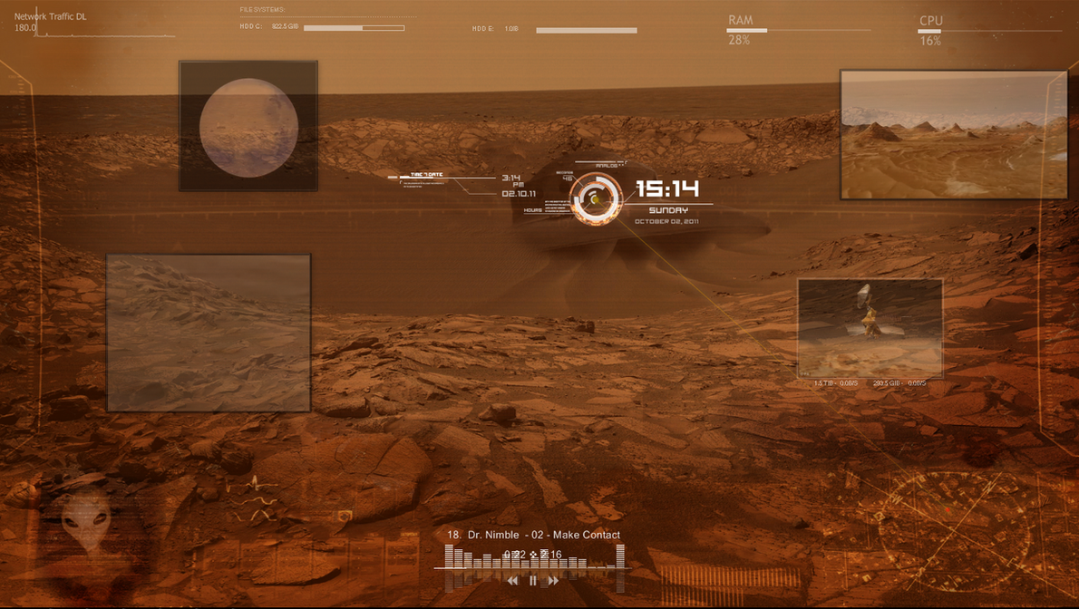 Mars Rainmeter by StArL0rd84