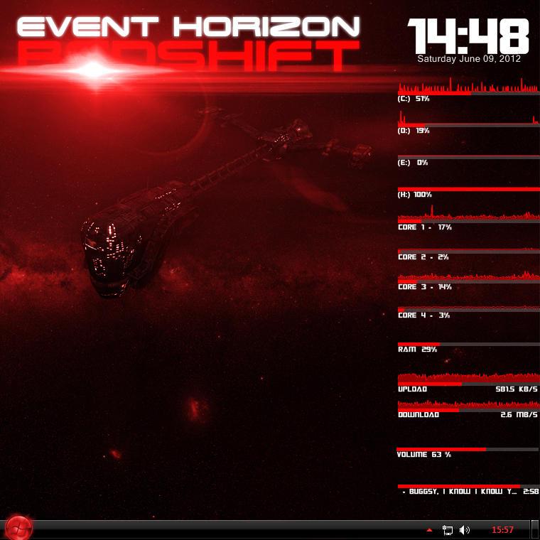 Event Horizon RedShift by Thyrring