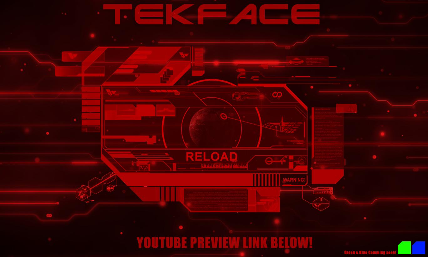 TekFace Rainmeter skin by Thyrring