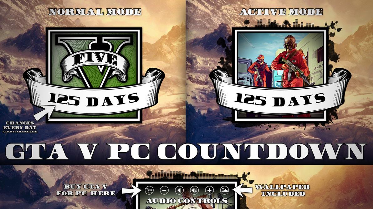 Rainmeter - GTA V PC Countdown by Thyrring