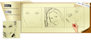 Facebook Timeline Cover Drawing PSD