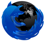 Firefox Blue and Black PSD