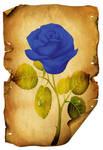 Old Paper Rose  Blue PSD