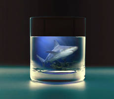 Shark in the cup PSD