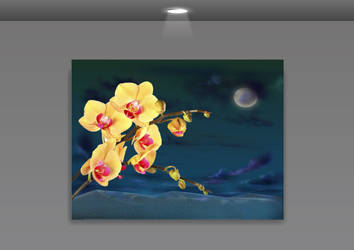 Orchid Frame PSD