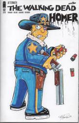 Homer TWD cover art by Hxavierscorner