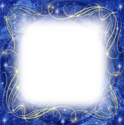 Blue Winter Frame by juliazip