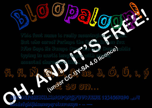 Bloopaloop Open Type and Web Font