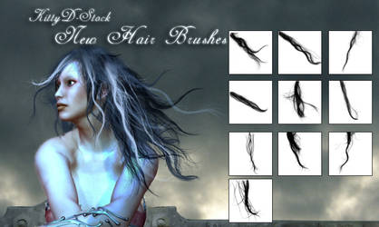 New Hair Brushes by Kittyd-Stock