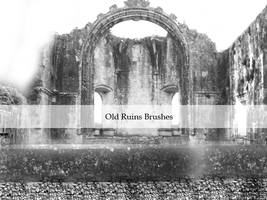 Ruins Brushes by Kittyd-Stock