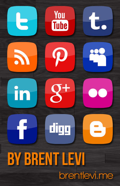 Social Media Icons by brentlevi
