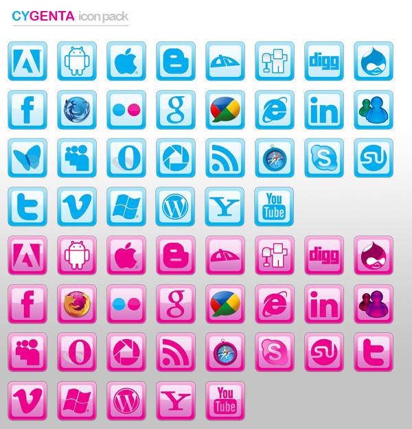 CyGenta Icons Pack by Bushwad