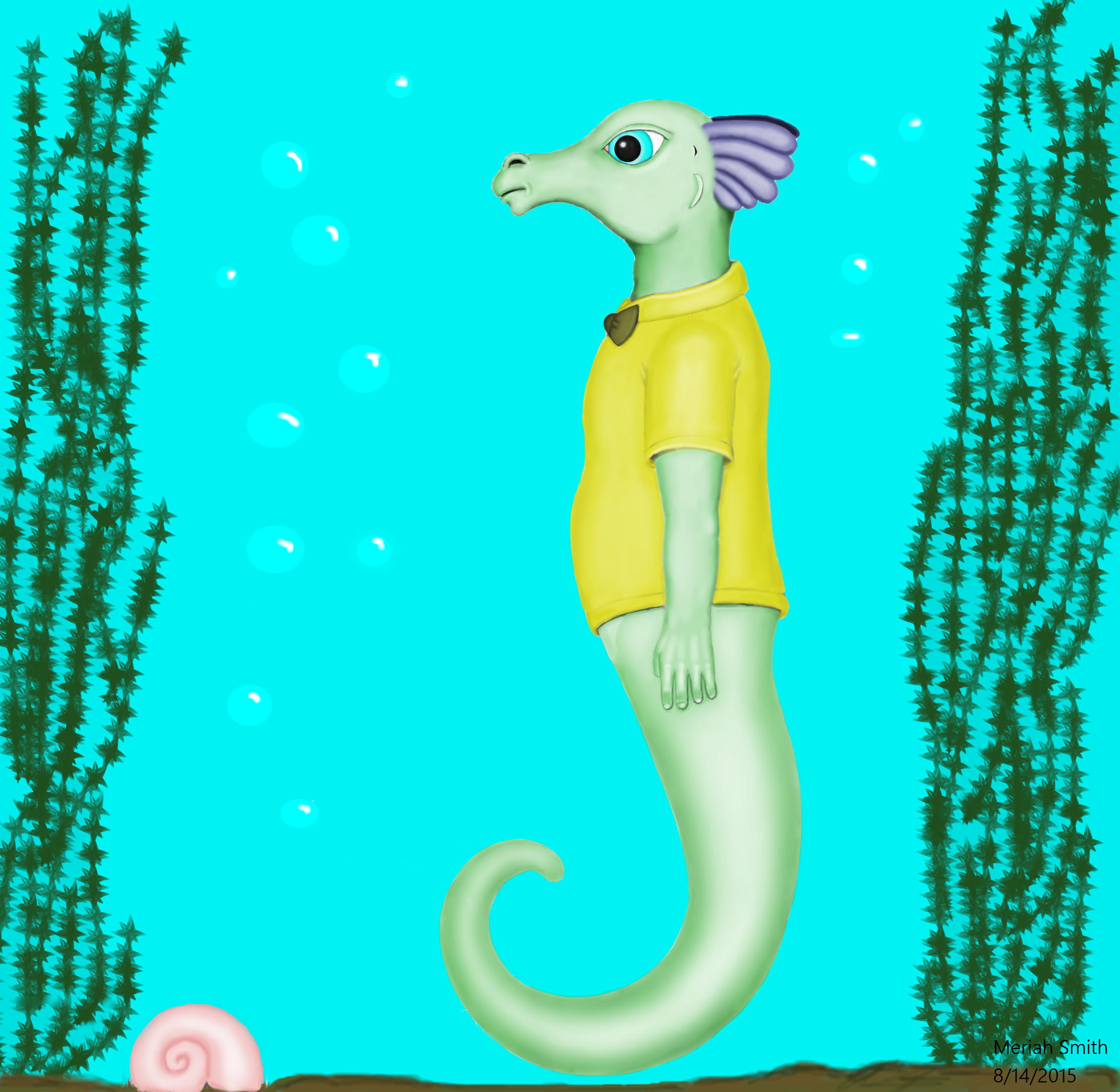 Seahorse Cartoon Character Reference By Cherokeegal1975 On Deviantart