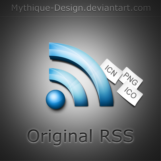 Original RSS by Mythique Design Most Beautiful Rss Icons On The Web