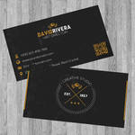 FREE Black Retro Business Card template