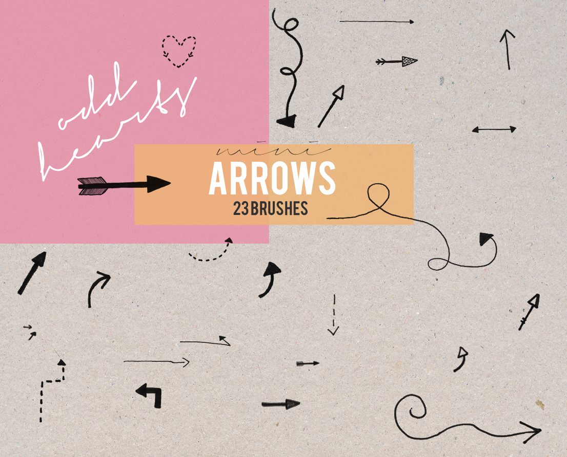 Mini Arrows - Brushes by oddhearts