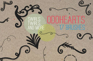 Swirls And Twirls - Brushes by oddhearts
