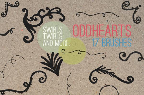 Swirls And Twirls - Brushes by oddhearts
