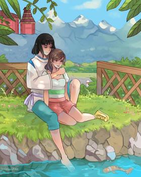 Chihiro and Haku -Reunion