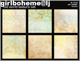 Old World Texture Set by Girlboheme