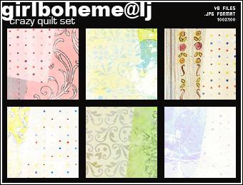 Crazy Quilt Texture Set by Girlboheme