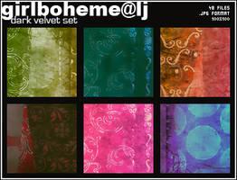 Dark Velvet Texture Set by Girlboheme