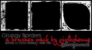 Grungy Borders - Icon Size by Girlboheme