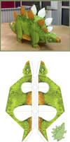 Metrolekeland Papercraft Dino by berov