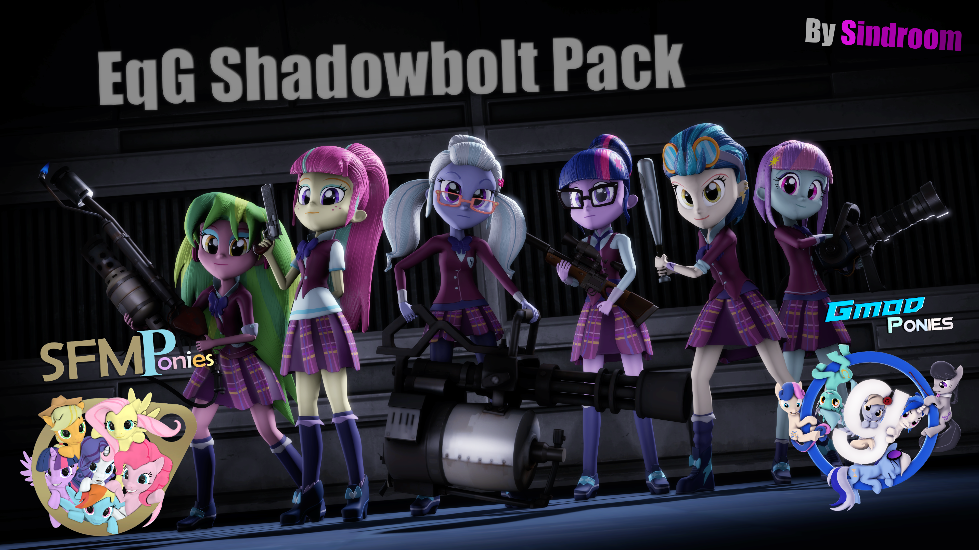 SFM/Gmod] EqG Shadowbolts Pack v1 2 by Sindroom on DeviantArt