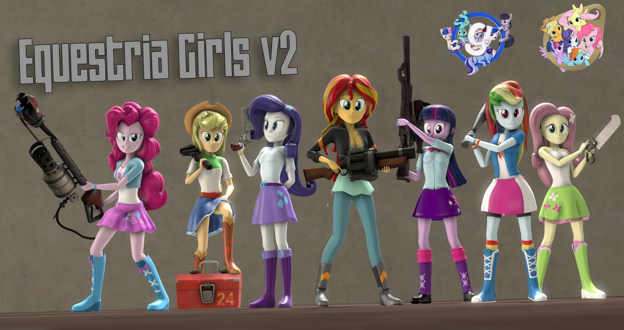 [SFM/Gmod] Equestria Girls V2.1 by Sindroom