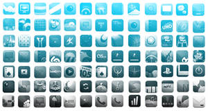 iPhone Icons Photoshop Brushes