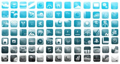 iPhone Icons Photoshop Brushes