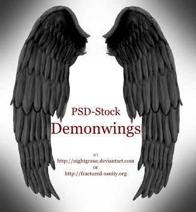 Demon Wings - PSD STOCK Demon_Wings___PSD_STOCK_by_nightgraue