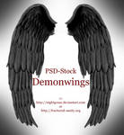 Demon Wings - PSD STOCK