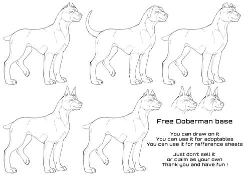 Doberman Lineart Base