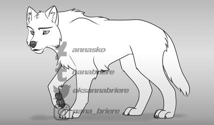 cartoon wolf base 2020