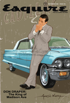 Don Draper Sitting on a Cadillac Cool..