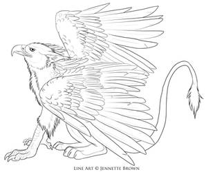 Free Griffin Lineart