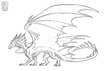 Dragon Lineart Template 1