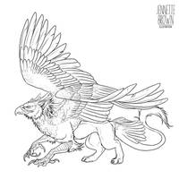 Griffin Lineart Template by sugarpoultry